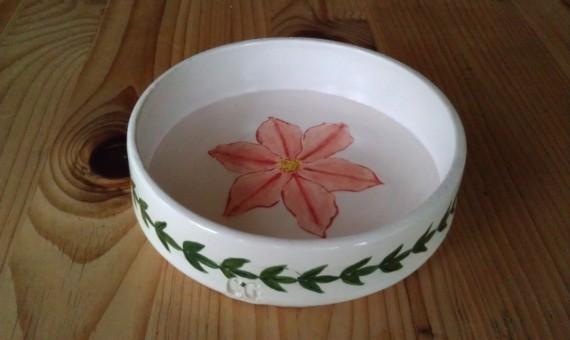 Majolica Clematis bowl
